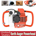 52cc Earth Auger 2-stroke Gas Powered One Man Post Hole Digger Machine 3 Bits