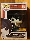 FUNKO POP! DEATH NOTE: L (WITH CAKE) #219...HOT TOPIC EXCLUSIVE
