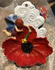 Hand Painted Vintage Wall Mounted Fairy  Flower Bird Feeder