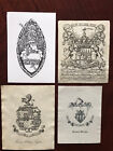 ex libris Bookplate Wappen Heraldic Coat Of Arms crest Heraldik X5