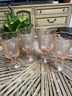 Vintage Indiana Glass 4 Pink Recollection Madrid Water Goblet Wine Glasses 12 Oz