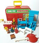 1980s Sesame Street Firehouse Truck Child Guidance Playset Case Toy Figures