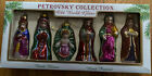 Petrovsky Collection Nativity Xmas Ornaments Set of 6 Hand Blown Painted Jesus