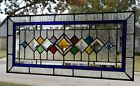 Transom Style Stained Glass Window  25  x 12