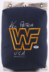 Ken Patera Signed WWF 80s Style Turnbuckle Inscribed USA PSA COA