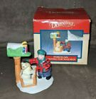 Lemax Christmas village accessory waiting for mailman dog Figurine in box ex2942