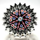 Special Peter McDougall Medium Ribbed Millefiori Paperweight For 2011 PCA Conv