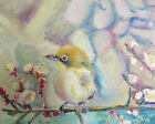 Bird on Branch 8x10 Limited Edition Oil Painting Print