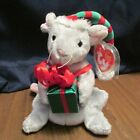Ty Exclusive Beanie Tiny Tim the Christmas Mouse MWMT