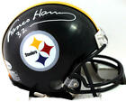 Franco Harris Autographed Pittsburgh Steelers Mini Helmet- Beckett Auth *White