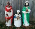 RARE Beco Three Wise Men Lighted Christmas Nativity Blow Molds Yard Decor