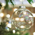 Iridescent Clear Glass Baubles Ball Fillable Wedding Christmas Hanging Ornament