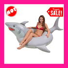 New Shark Inflatable Party Tube Fun Swimming Pool Floats for Adults and Kids