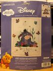 Eeyore  Butterflies Birth Announcement Counted Cross Stitch 1138 91 DISNEY NEW