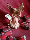 VINTAGE ITALY 5631 NATIVITY MANGER STANDING LARGE ANGEL WITH VIOLIN 10