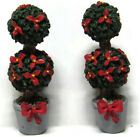 Lemax Village 2 Topiary Round Potted Bush Trees House Porch Decor 2