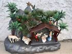 Vintage MCM Plastic Blow Mold Hong Kong Christmas Manger Nativity Scene 2