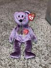 Ty Beanie Baby 2000 SIGNATURE Teddy Bear Purple Bean Bag Plush Toy RETIRED