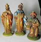 Wisemen 3 Kings Magi Antique Vintage Gift Aged Christmas Nativity Italy Crche