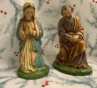 Vintage Mary and Joseph Columbia Statuary Nativity 12 scale