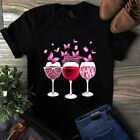 Pink Ribbon Wine Glass Butterfly Breast Cancer Awareness Tshirt