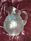 Fenton Opaque Water Lily Glass Pitcher