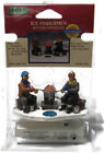 Lemax Christmas Village Ice Fisherman Battery Operated Glowing Fire
