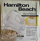 6 Speed Hamilton Beach Hand Mixer With Snap On Storage Case Wire Beaters Whisk