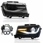 Halo LED DRL Sequential Headlight Left  Right Fit Chevrolet Camaro 2014 2015