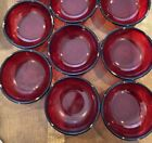8 Arcoroc Luminarc France Ruby Red Glass Bowls Set Of 8 6 Wide