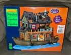 Spooky Town Haunted Houseboat Lemax Halloween Village Boat 2015 Retired 45666