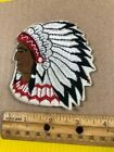 VINTAGE INDIAN CHIEF IRON ON PATCH EMBROIDERED LOGO EMBLEM HEAD TAKE A LOOK