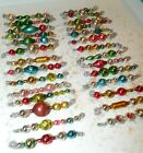 28 Stunning ALL Vintage MERCURY GLASS Garland Bead TINSEL Icicle Ornaments