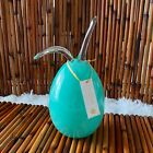 Bella Lux Spring Collection Jade Green Blown Glass Egg Bunny Rabbit NWT EASTER