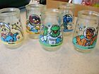 Lot of 5 Welchs Muppets in Space Jelly Glasses 1 2 3 4 and 6 Henson 1998