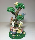 Easter Bunny Candle Holder Tree Decoration Boy Girl Birds Squirrel Painting Egg