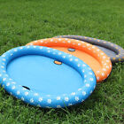 Footprint Inflatable Swimming Pool Pet Dogs Floating RaftBed Water Play Cushion