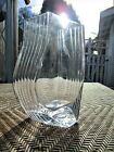 VINTAGE Clear Swirl Twist Ribbed Glass Vase 9 5 8 Tall Heavy
