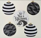 GIANT wooden Christmas decorations Props nightmare before black white HW