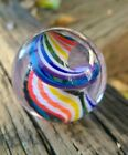 Beautiful Vintage Art Glass Marble Colorful Spiral Amazing Detail 2