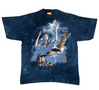 Vintage 90s The Mountain Native American Woman Lightning  Eagle T shirt 3XL