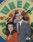 PAT SAJAK & VANNA WHITE DUAL SIGNED 8x10 PHOTO WHEEL OF FORTUNE BECKETT BAS