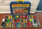 1960s Matchbox Collectors Carrying case with 48 vehicles