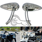 Universal M8 M10 Skull Cafe Racer Motorcycle Rear View Mirrors For Harley Honda