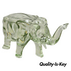 Vintage Blown Glass Consolidated Glass 15 Elephant Candy Trinket Dish with Lid
