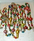 10 FEET 100 Vintage Mercury Glass Bead Christmas Garland Big Beads Antique