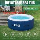 Secondhand CO Z 68ft Inflatable Spa Tub Portable Jacuzzi with 140 Jets w Pump
