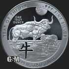 2021 Year Of The OX Celtic Animals BU 999 1 oz 999FINE Silver Round IN STOCK