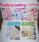 Lot 5 UK Quilt magazines 2 Todays Quilter +3 Love Patchwork  Quilting patterns