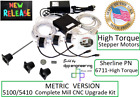 Sherline Pn 6711 Metric 54105100 Mill Cnc Upgrade Kit With Stepper Motors